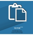 blank paper Flat modern web button with long vector image