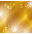 bright music background with notes and lights vector image vector image