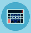 calculator icon accounting device web button vector image