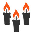 candles flat icon vector image vector image