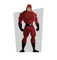 cartoon superhero in a red suit vector image