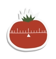 Cartoon tomato flat icon vector image vector image