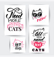 cat banner set vector image