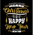 christmas and new year lettering designs vector image