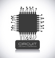 circuit design vector image vector image