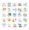 collection of communication and networking icons vector image vector image