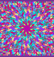 colorful abstract geometrical round pattern vector image vector image