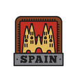 country badge collections spain symbol of big vector image