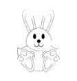 cute bunny cartoon vector image vector image