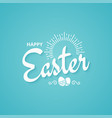 easter spring vintage lettering background vector image