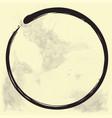 enso zen circle brush ink vector image