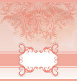 frame and ornate on watercolor background vector image vector image