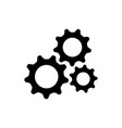 gear setting logo icon vector image