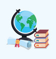 geography tool and books vector image