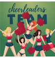 girl cheerleaders people cartoon character team vector image