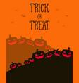 halloween greeting card orange background vector image