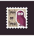 Halloween owl stamp vector image vector image