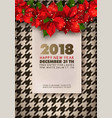 happy new year 2018 party promotional banner vector image vector image