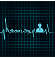 Heartbeat make doctors day text and symbol stock v vector image vector image