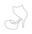 High heels shoes vector image vector image
