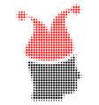 joker halftone icon vector image vector image