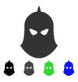 knight helmet flat icon vector image vector image
