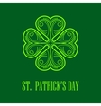 Linear monogram Saint Patricks Day vector image