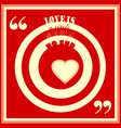 love is circle and the circles has no end quote vector image vector image