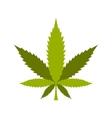Marijuana leaf icon flat style vector image vector image