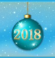 merry christmas 2017 decoration on blue background vector image
