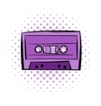 Music-cassette or tape comics icon vector image vector image