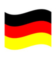 official national flag of germany vector image vector image