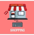 Online shopping flat design vector image