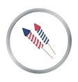 Patriotic fireworks icon in cartoon style isolated vector image vector image