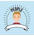 people person emblem connection vector image