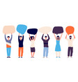 people with speech bubbles voting right concept vector image vector image