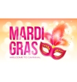 Pink Mardi Gras banner template with red carnival vector image vector image