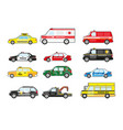 public service and emergency response vehicle cars vector image