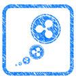 ripple inflation framed stamp vector image vector image