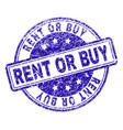 scratched textured rent or buy stamp seal vector image vector image