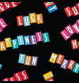 seamless background various cheerful words vector image