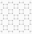 seamless monochrome minimalistic square pattern vector image vector image