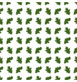 seamless pattern with oak leaves on white vector image