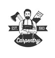 set of carpentry logo templates vector image vector image