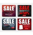 Set of web banner for sales on Black Friday vector image