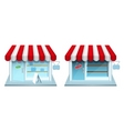 shop icon vector image vector image