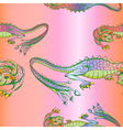 silk dragons pattern vector image