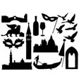 sketches of venice silhouettes collection vector image vector image