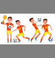 soccer male player in action modern vector image