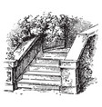 stairs ladders vintage engraving vector image vector image